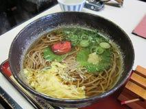Japanese plum flavor ramen noodle Stock Photos