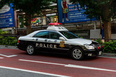 Japanese police car. A Japanese police car on the street in Tokyo Royalty Free Stock Image
