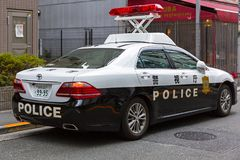 Japanese Police car on the street of Tokyo Royalty Free Stock Photo