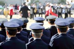 Japanese police ceremony Stock Image