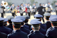 Japanese police ceremony Royalty Free Stock Image