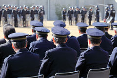Japanese police officers Stock Photos