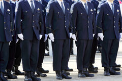 Japanese police officers Royalty Free Stock Photos