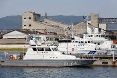 Japanese police patrol boat Stock Image