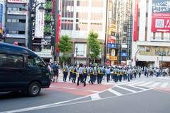 Japanese police in Tokyo Stock Image