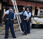 Japanese policemen Stock Images