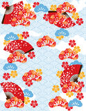 Japanese pond pattern Royalty Free Stock Photography