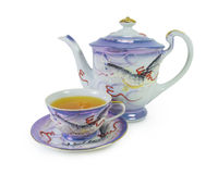 Japanese porcelain tea cup Stock Images