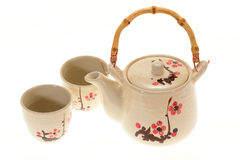 Japanese Teapot Set Stock Photo