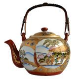 Japanese porcelain teapot Royalty Free Stock Images