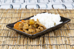 Japanese pork curry with rice ,carrot,onion and potato Royalty Free Stock Image