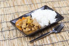Japanese pork curry with rice ,carrot,onion and potato Royalty Free Stock Photography