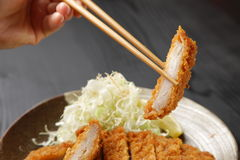 Japanese pork cutlet Tonkatsu Stock Images