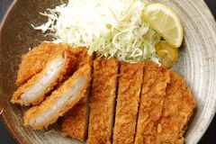 Japanese pork cutlet Tonkatsu Royalty Free Stock Image
