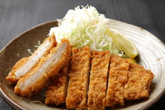 Japanese pork cutlet Tonkatsu Royalty Free Stock Images