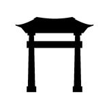 japanese portal isolated icon Royalty Free Stock Photography
