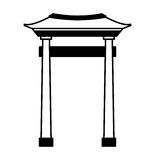 japanese portal isolated icon Stock Photo