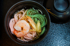 Japanese Prawn Noodle Soup Royalty Free Stock Photos