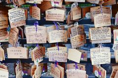 Japanese prayer plaques Stock Images