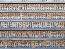 Japanese preyer wood. Japanese prayer wood in Zojoji temple Tokyo Stock Photo