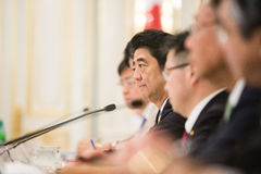 Japanese Prime Minister Shinzo Abe Stock Photo