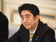 Japanese Prime Minister Shinzo Abe Stock Photos