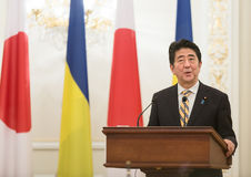 Japanese Prime Minister Shinzo Abe Royalty Free Stock Photo