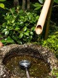 Japanese purification basin Stock Image