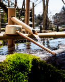 Japanese purification fountain Royalty Free Stock Photos