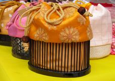Japanese purses Royalty Free Stock Image