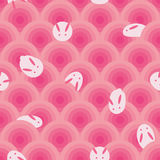 Japanese rabbit circle mochi seamless pattern Royalty Free Stock Photo