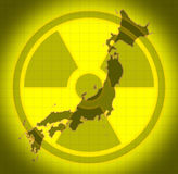 Japanese radioactive radiation Royalty Free Stock Photography