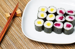 Japanese Radish Pickled Sushi Hand Roll Royalty Free Stock Image