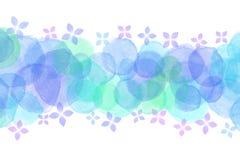 Japanese rainy hydrangea flower abstract or pastel watercolor paint background. Japanese rainy blue hydrangea flower abstract or pastel watercolor paint vector illustration