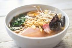 Japanese ramen bowl Royalty Free Stock Images