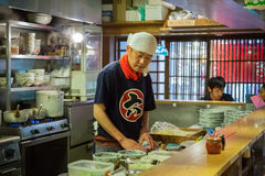 Japanese Ramen chef in Himeji, Japan Royalty Free Stock Images
