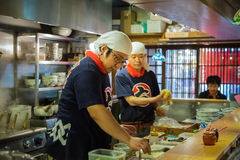 Japanese Ramen chef in Himeji, Japan Stock Images