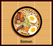 Japanese Ramen Concept Royalty Free Stock Photo