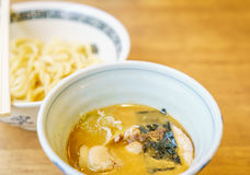 .Japanese ramen noodle on table Royalty Free Stock Image