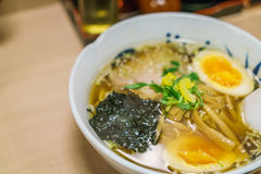 ,Japanese ramen noodle on table Royalty Free Stock Images