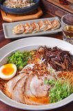 Japanese ramen noodles with meat Royalty Free Stock Photos