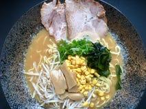 Japanese ramen soup stock photo