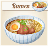Japanese ramen soup Cartoon  icon Stock Photo