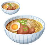 Japanese ramen soup Cartoon vector icon isolated Royalty Free Stock Photos