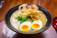 Japanese ramen soup with eggs Royalty Free Stock Image