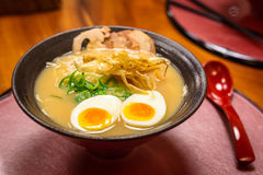 Japanese ramen soup with eggs Stock Photography