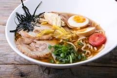 Japanese ramen soup Royalty Free Stock Photo