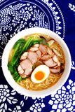 Japanese ramen tonkotsu with chashu Stock Images