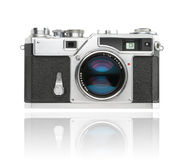 Japanese rangefinder 35mm camera. Japanese 35mm rangefinder camera from the 1960ies used by photojournalists. Clipping path included Stock Image