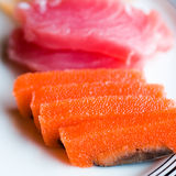 Japanese raw fish Royalty Free Stock Photography